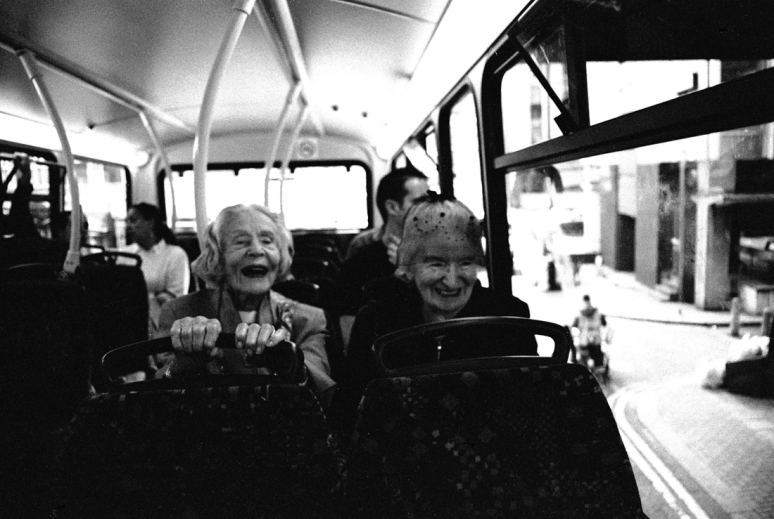 The old laughing ladies