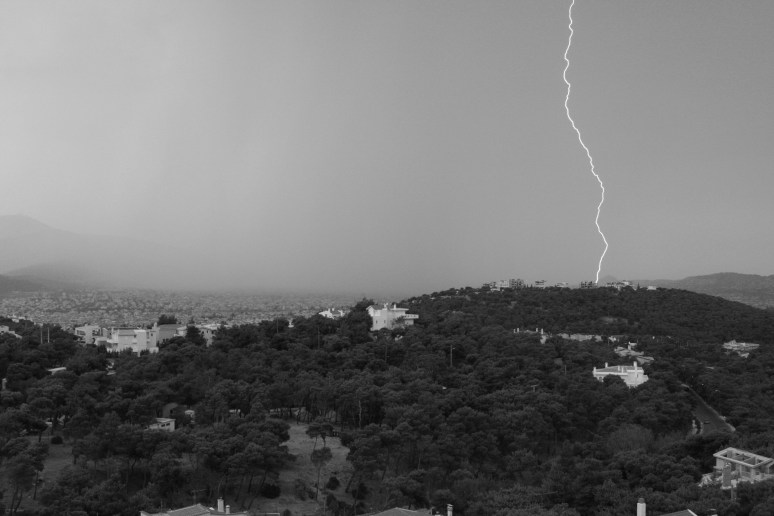Storm over Athens,Greece
