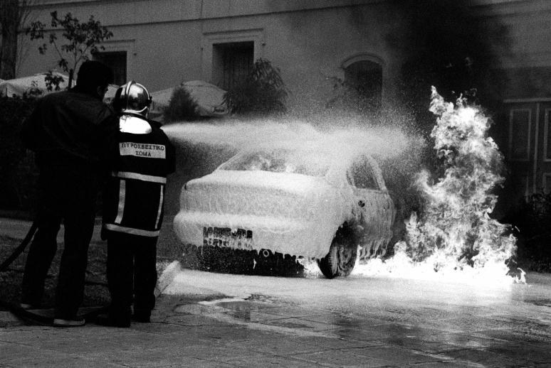Why people think that burning a car can change anything