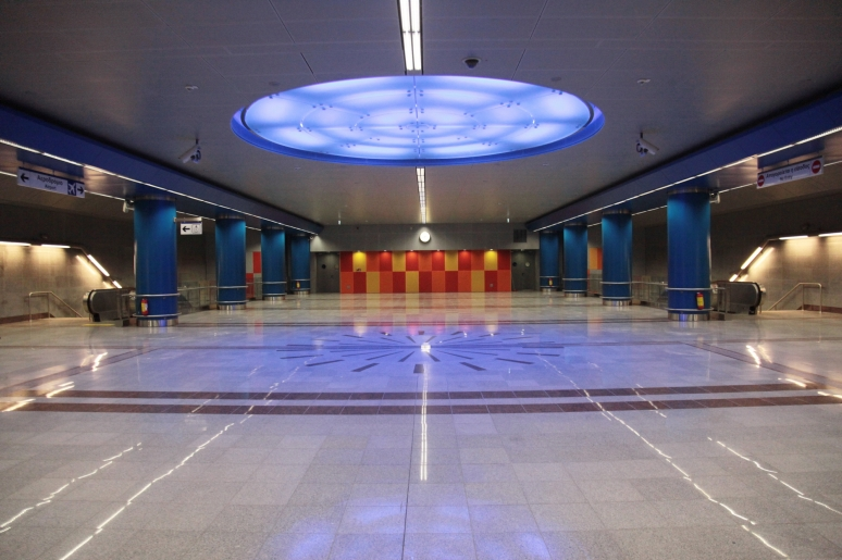 From the brand new Athens metro station, Agia Marina