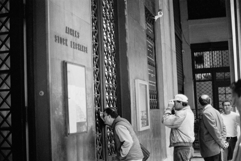 Losing their money at the Athens stock exchange back in 1999-2000