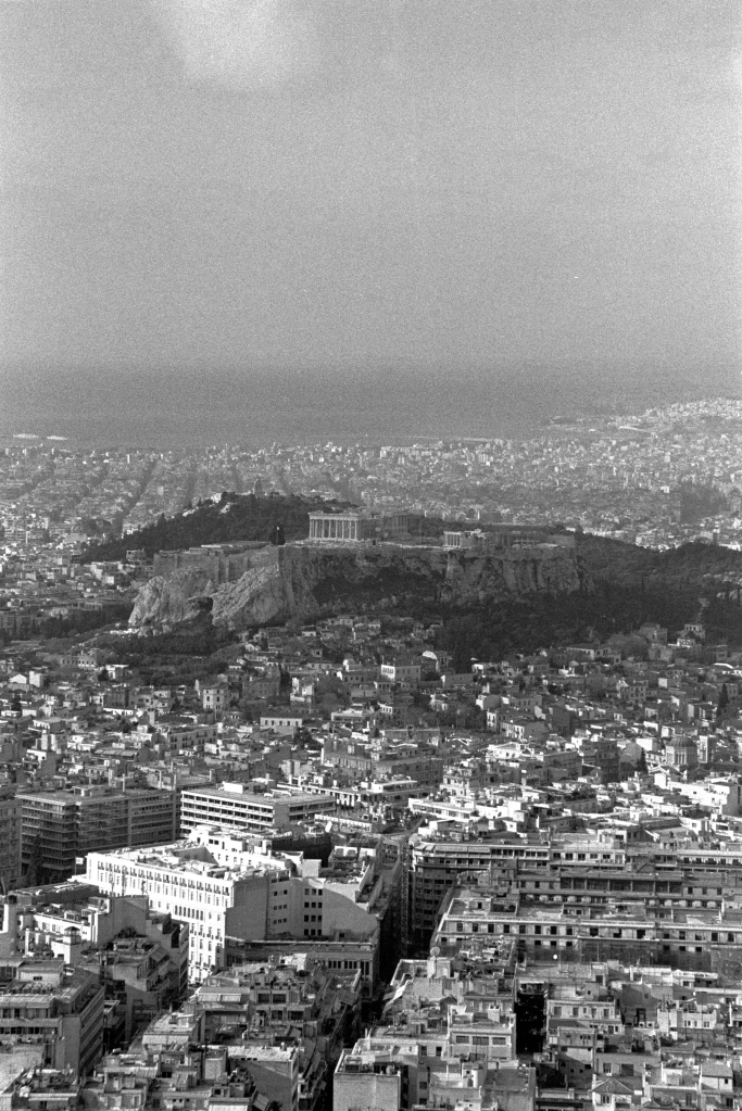 vg b328 bw 09 st 2003 Acropolis as seen from Lycabetus hill