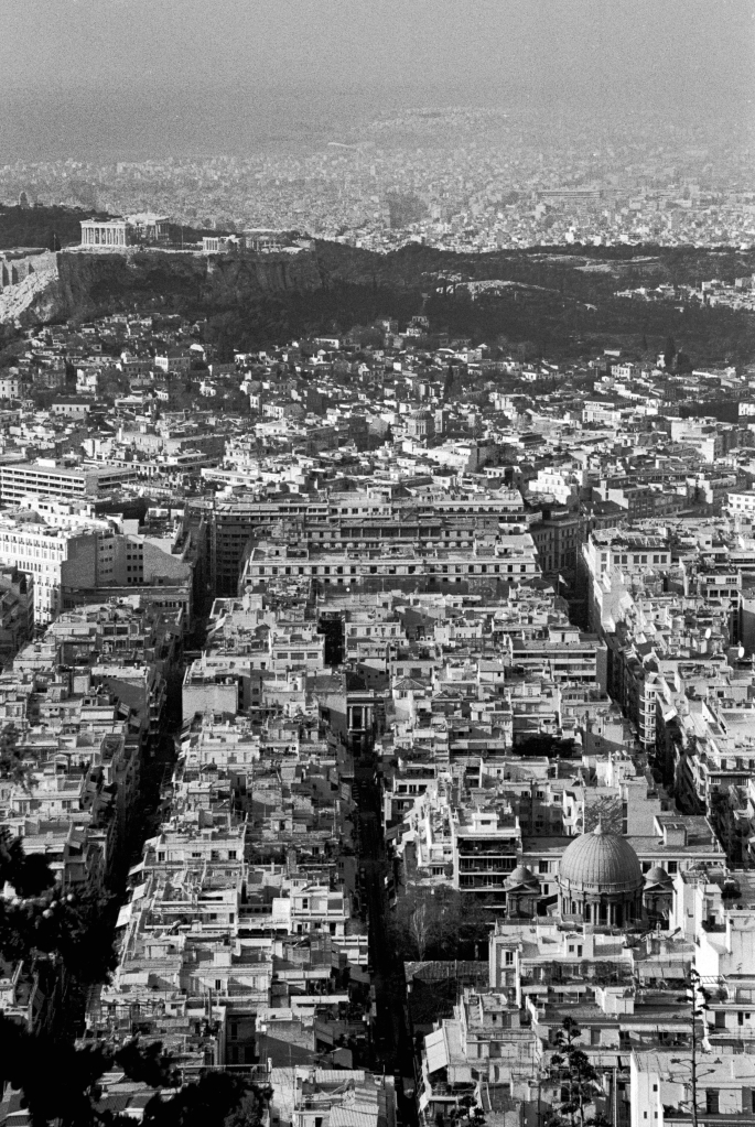 vg b328 bw 44 st 2003 Acropolis as seen from Lycabetus hill
