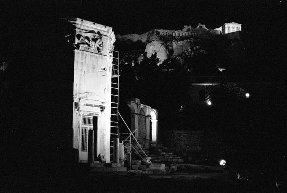 vg b414 bw 04 st 2003  Agerides at Plaka and Acropolis